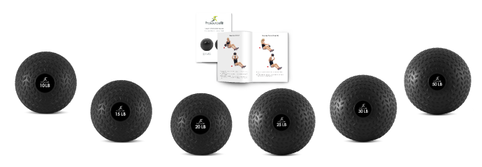 ProsourceFit Tread Slam Balls 10, 15, 20, 25, 30, 50 lb