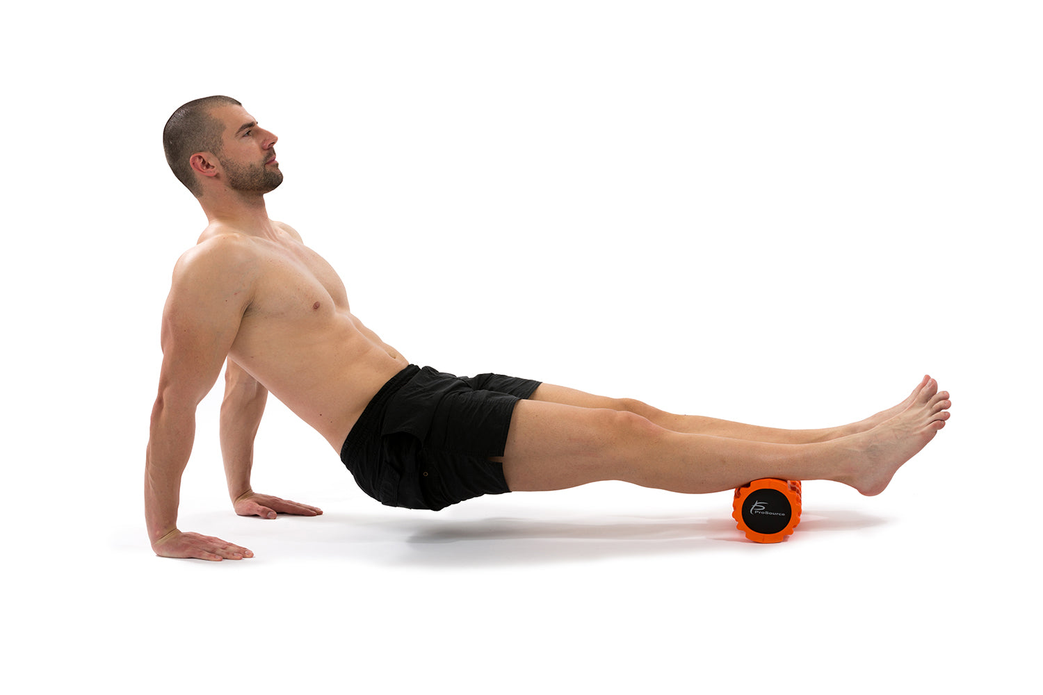 Man foam rolling on a prosource sports medicine roller
