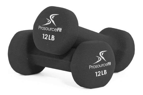 Prosourcefit neoprene dumbbells with comfortable grip for men and women