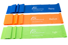 ProSource -set of 3 flat therapy pilates resistance bands