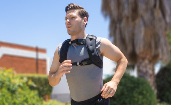 Man Running with ProsourceFit Weighted Vest