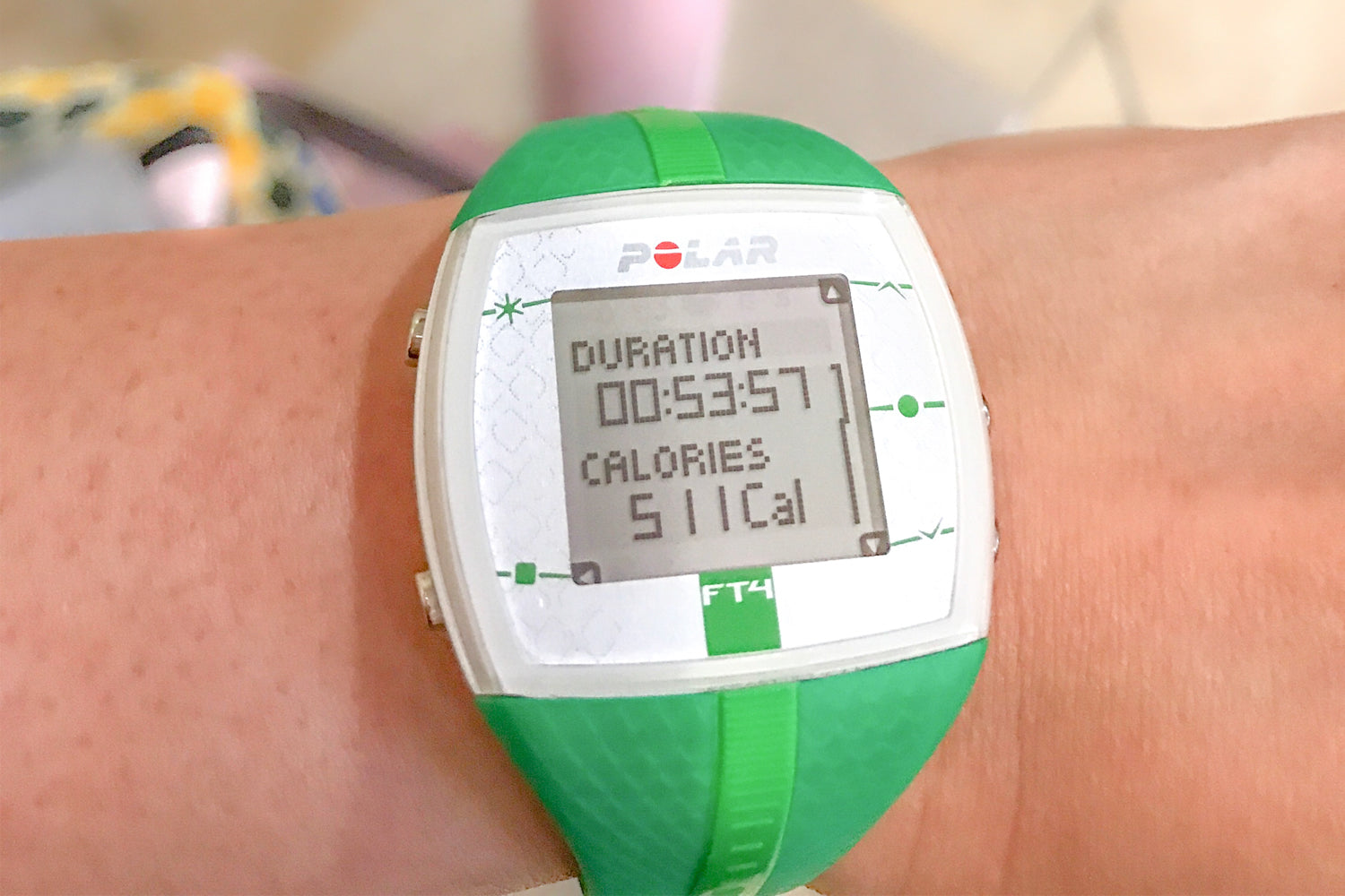 Polar heart rate monitor watch with calorie count from workout - Dianne's Challenge