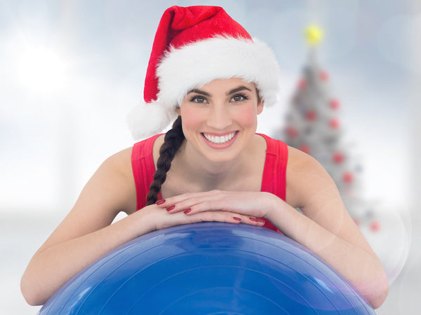 fit woman with stability ball