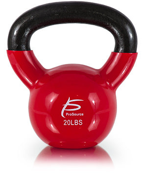 Vinyl Coated Cast Iron Kettlebell 20lb