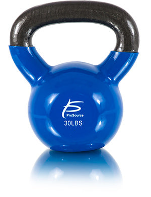 Vinyl Coated Cast Iron Kettlebell 30lb