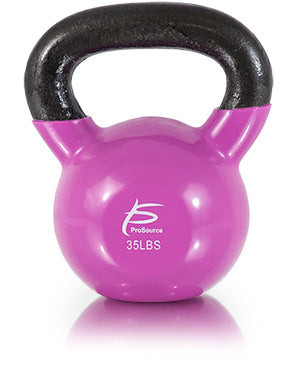 Vinyl Coated Cast Iron Kettlebell 35lb