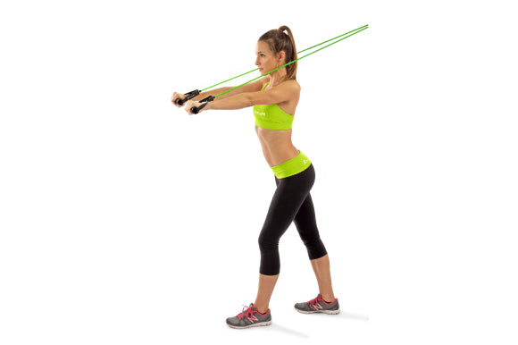 resistance band workout on vacation for arms with prosourcefit tube resistance bands with attached handles
