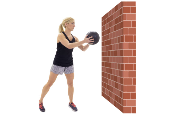 slam ball exercises with prosourcefit classic slam ball lateral wall throws