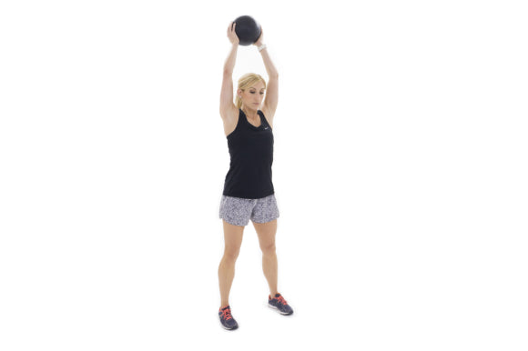 slam ball exercises with prosourcefit classic slam ball over head throw