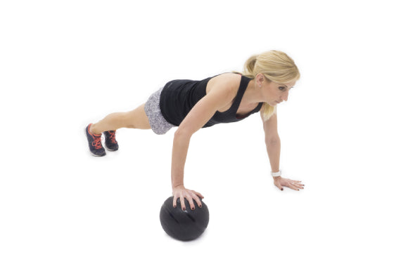 slam ball exercises with prosourcefit classic slam ball rolling push up