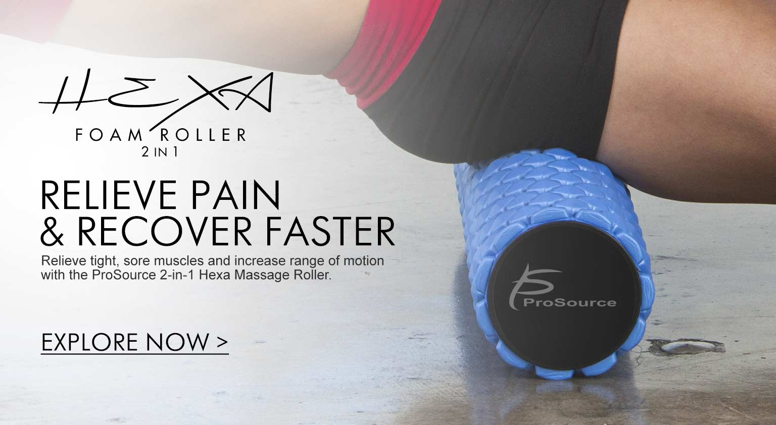 ProSource - Hexa 2in1 Muscle Recovery Foam Roller