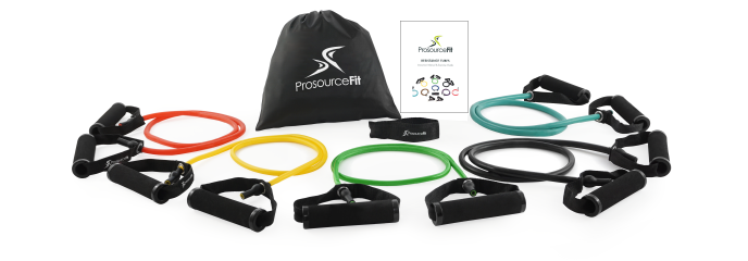 ProsourceFit - Tube, Flat Resistance Bands