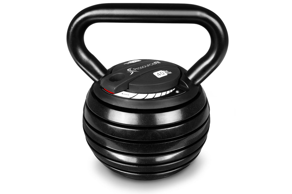 Adjustable Kettlebell, 10 lb to 40 lb Adjustable Kettlebell 10-lb to 40-lb