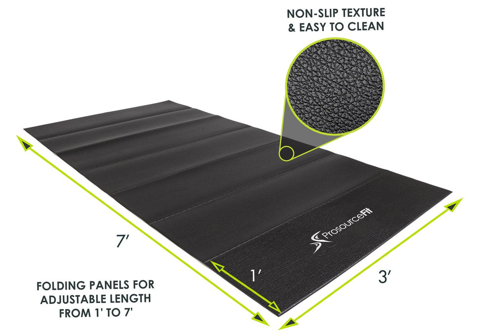 Folding Treadmill Mat Black