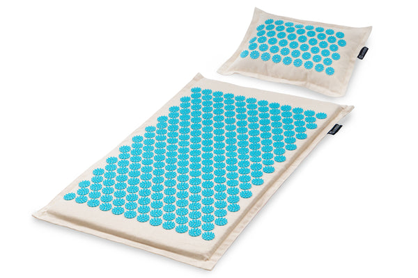Ki Acupressure Mat and Pillow Set Aqua