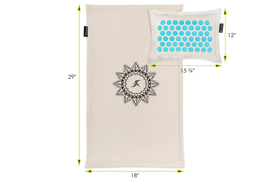 Ki Acupressure Mat and Pillow Set Paradise Cove