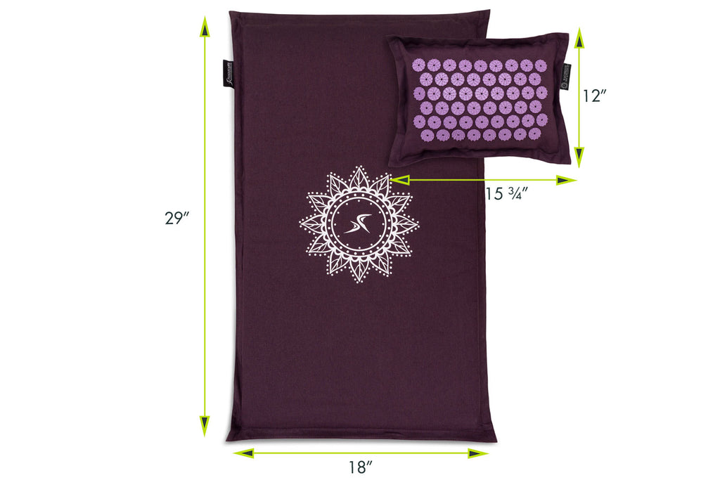 Ki Acupressure Mat and Pillow Set Royal Lilac