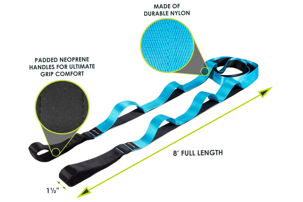 Multi-Loop Stretching Strap Black-Blue