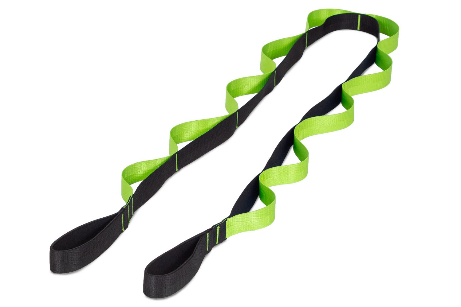 Black-Green Multi-Loop Stretching Strap