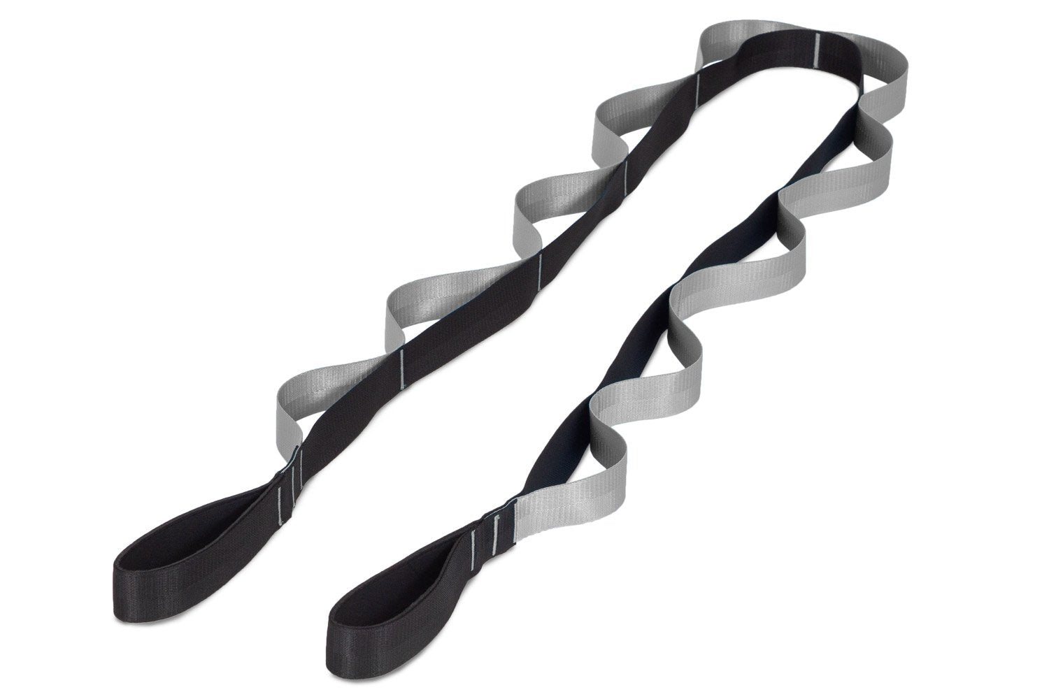 Black-Grey Multi-Loop Stretching Strap