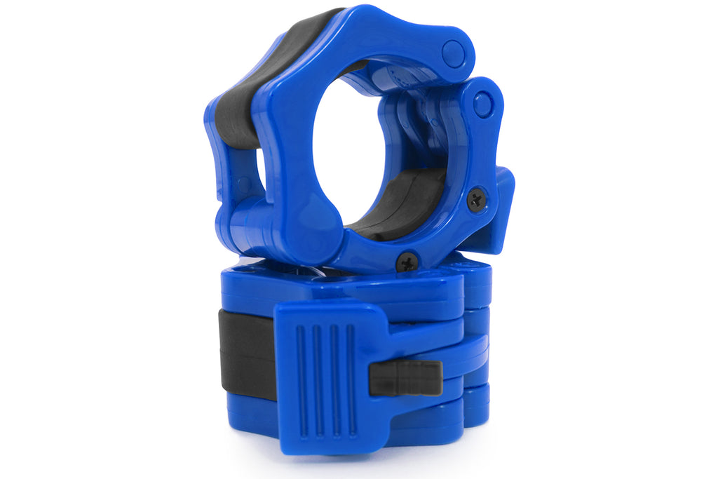 Olympic Barbell Clamp Collars Blue