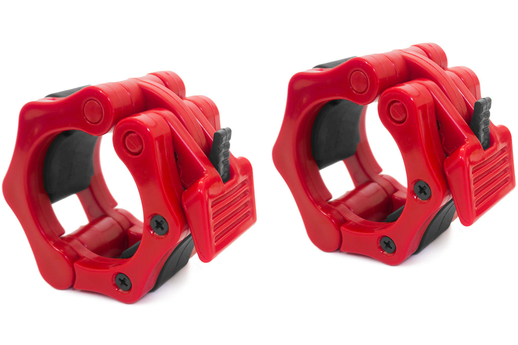 Olympic Barbell Clamp Collars Red