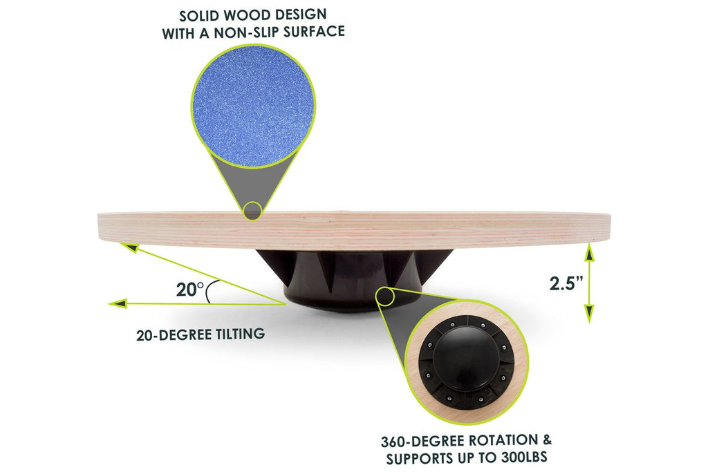 Wooden Balance Board Blue