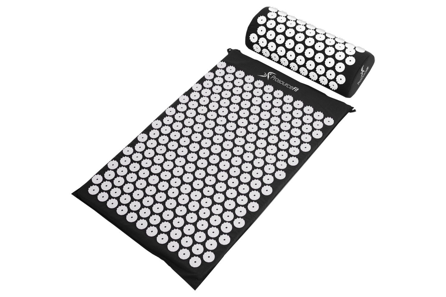 Black Acupressure Mat and Pillow Set