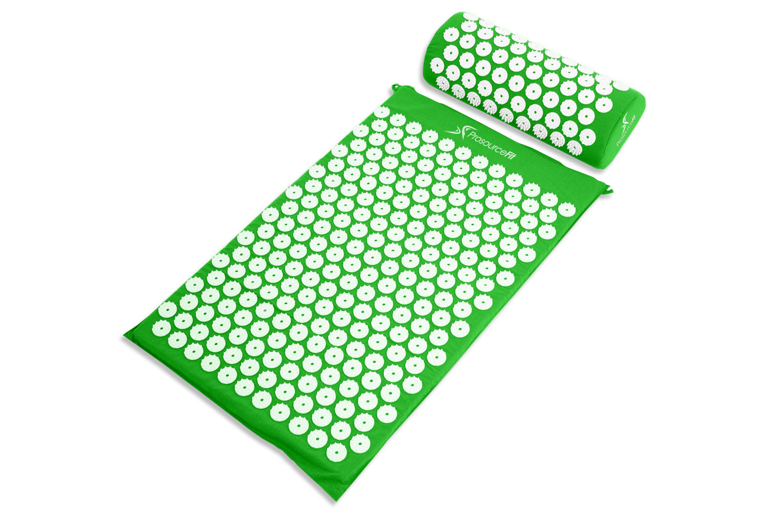 Green Acupressure Mat and Pillow Set