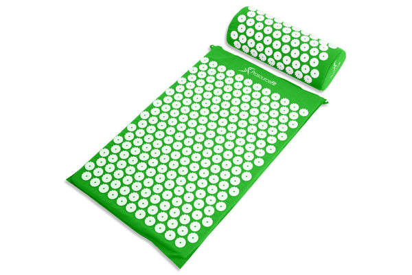 Acupressure Mat and Pillow Set Green