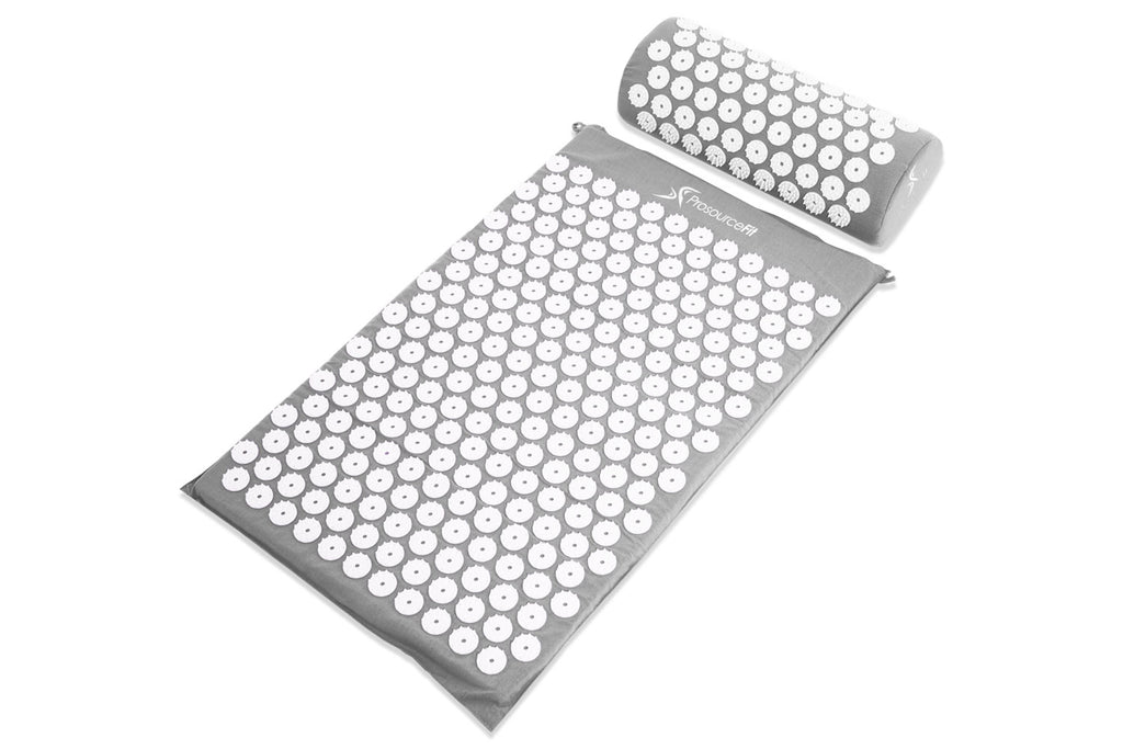 Acupressure Mat and Pillow Set Grey