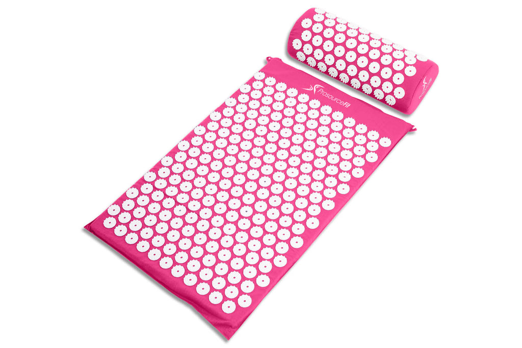 Acupressure Mat and Pillow Set Pink