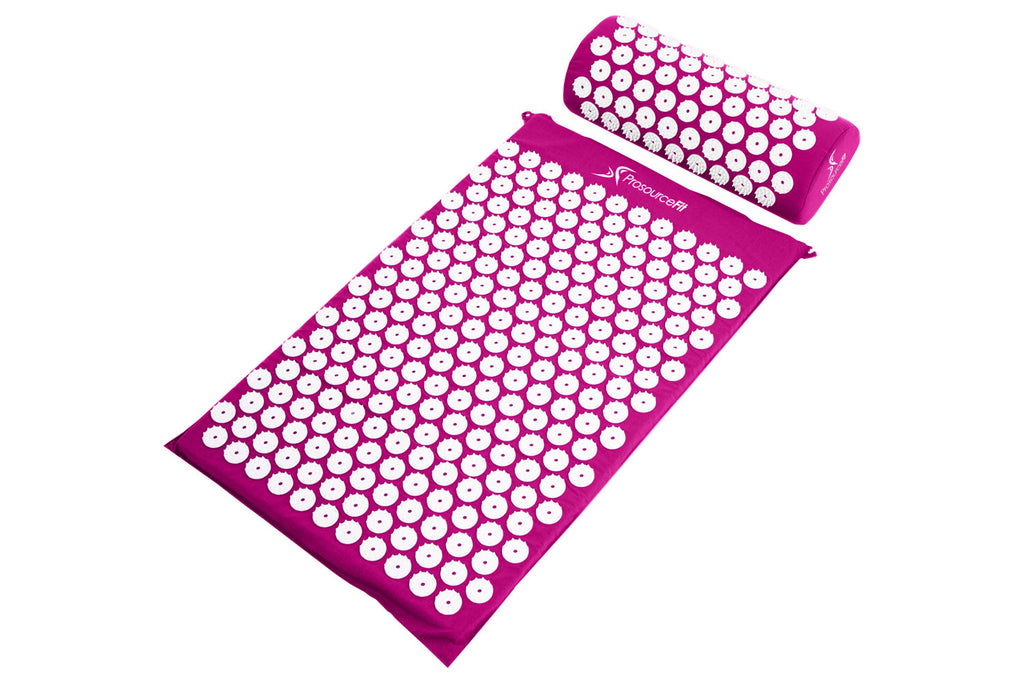 Acupressure Mat and Pillow Set Purple