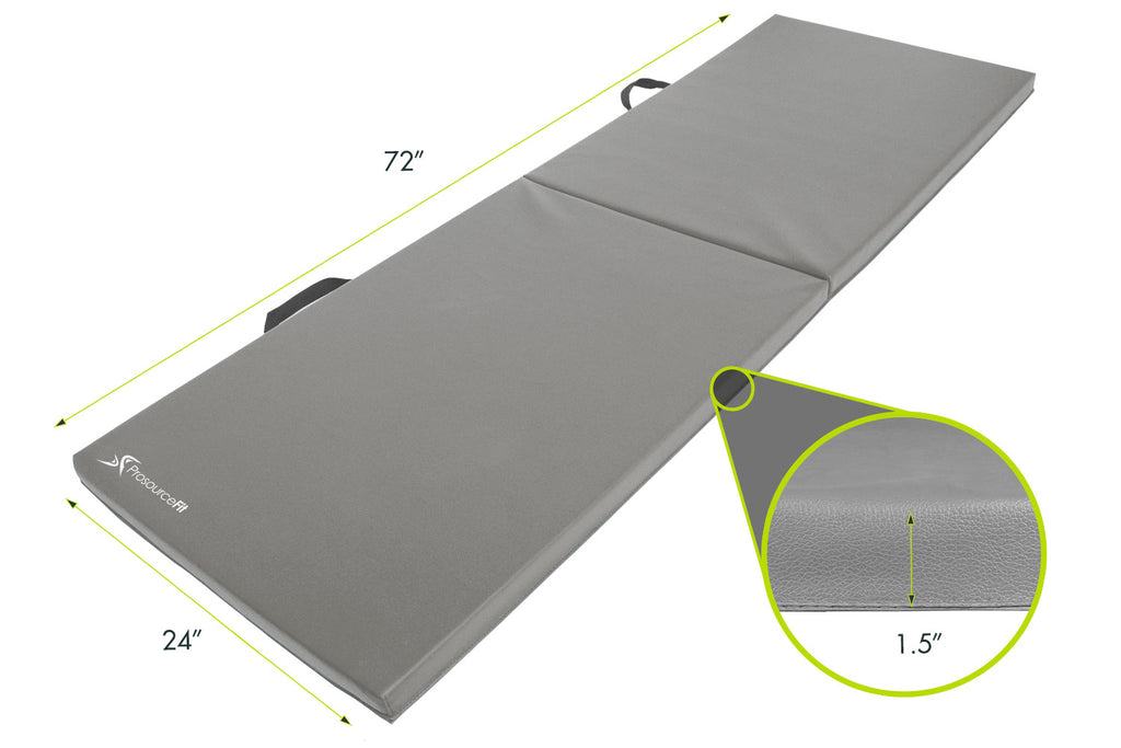 Bi-Fold Folding Exercise Mat Grey