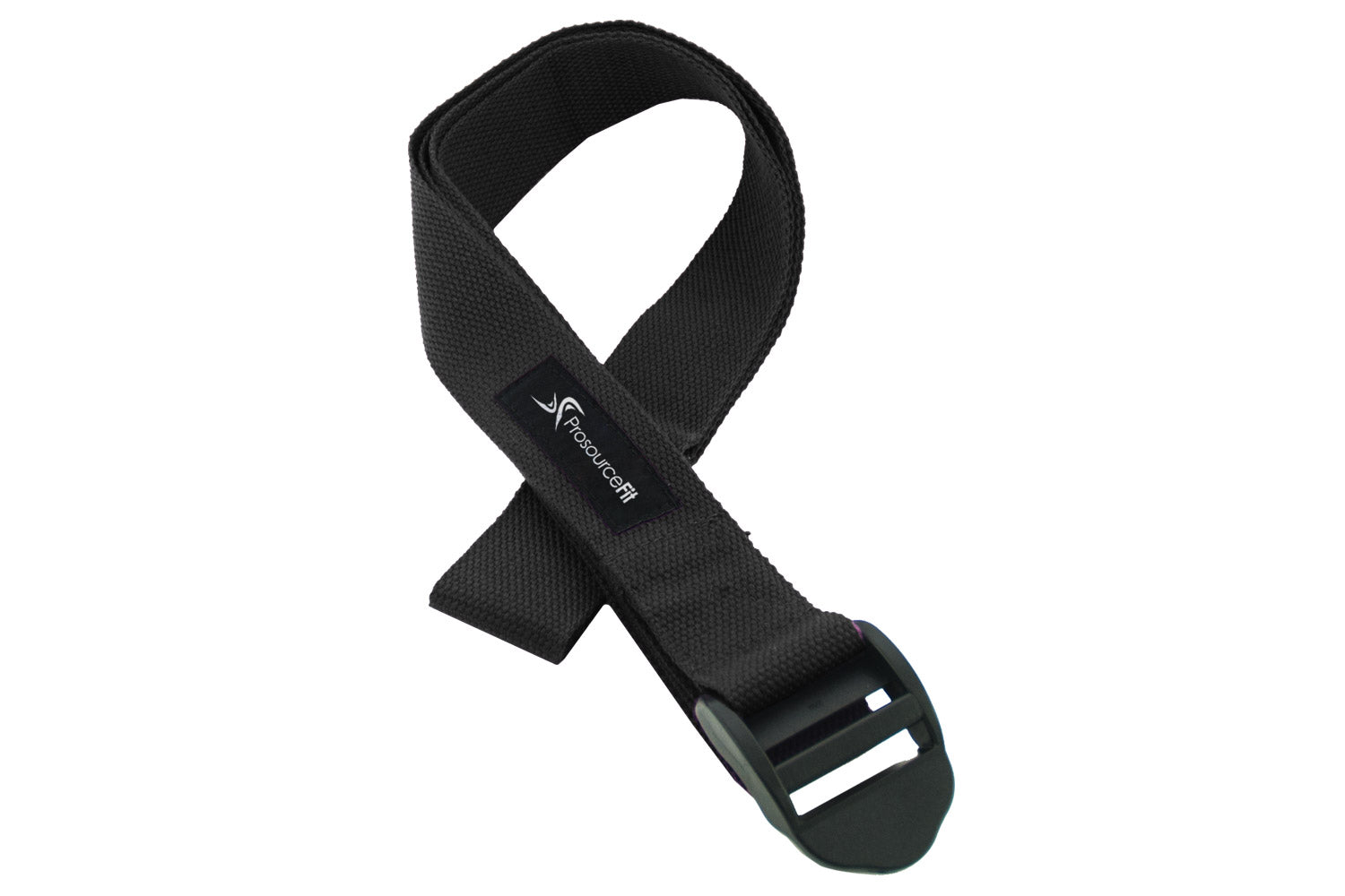 Black Cinch Buckle Yoga Strap