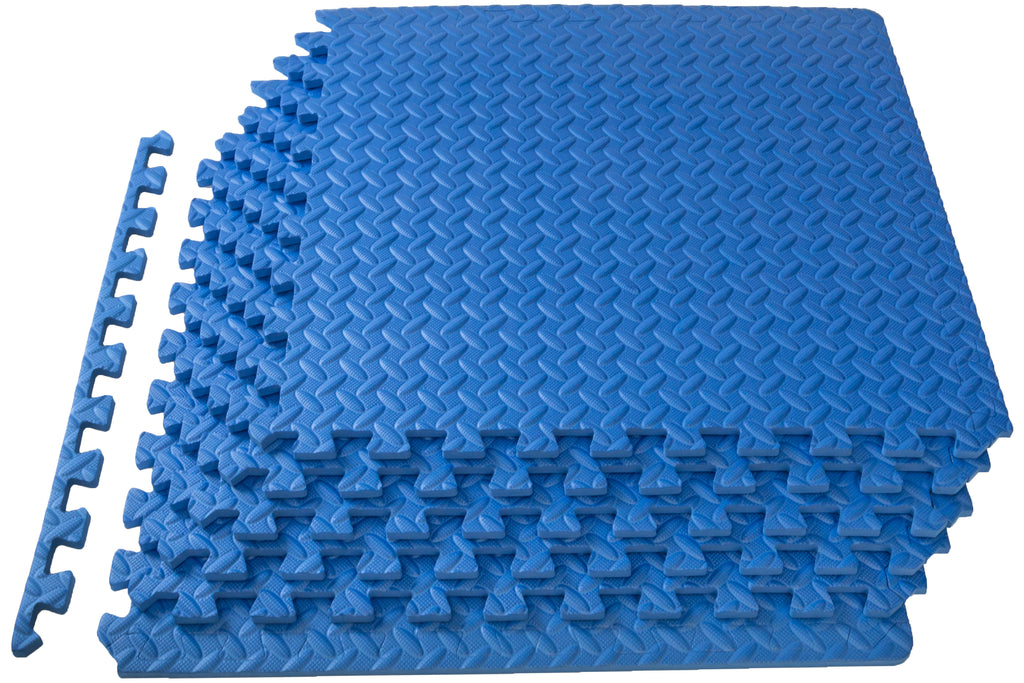 Exercise Puzzle Mat 1/2 inch Blue