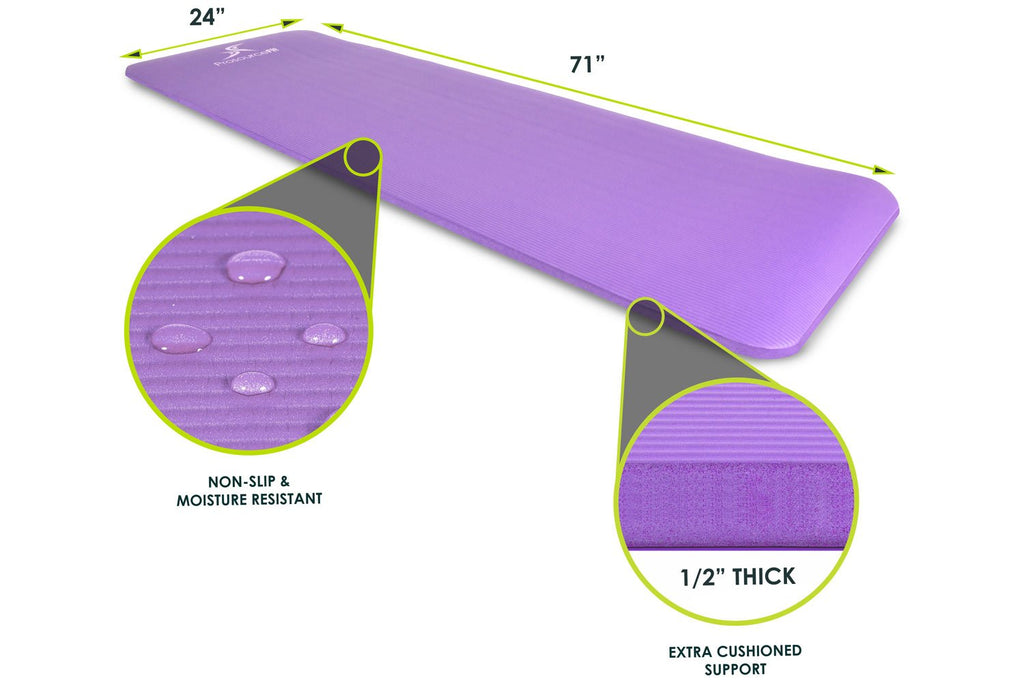 Extra Thick Yoga and Pilates Mat 1/2 inch Purple
