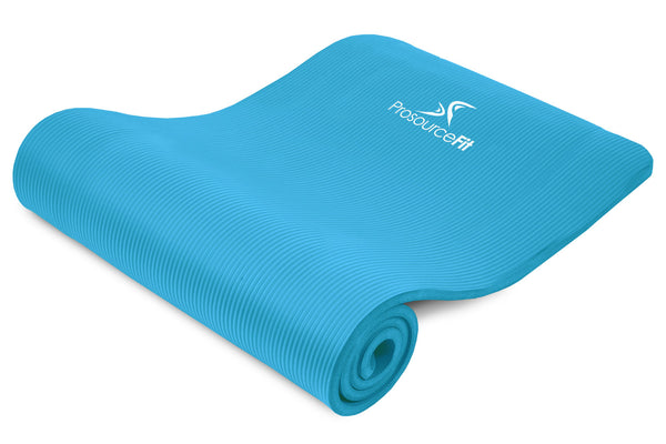 Extra Thick Yoga and Pilates Mat 1/2 inch Aqua