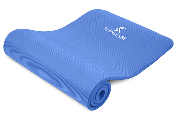 Extra Thick Yoga and Pilates Mat 1/2 inch Blue