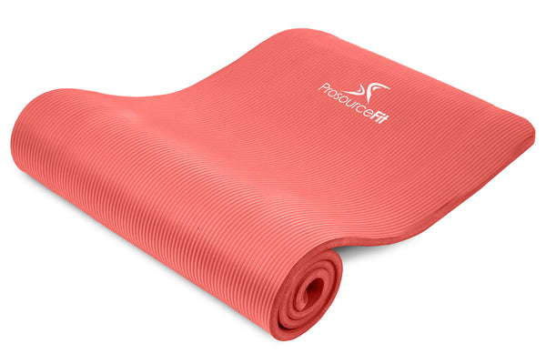 Extra Thick Yoga and Pilates Mat 1/2 inch Red