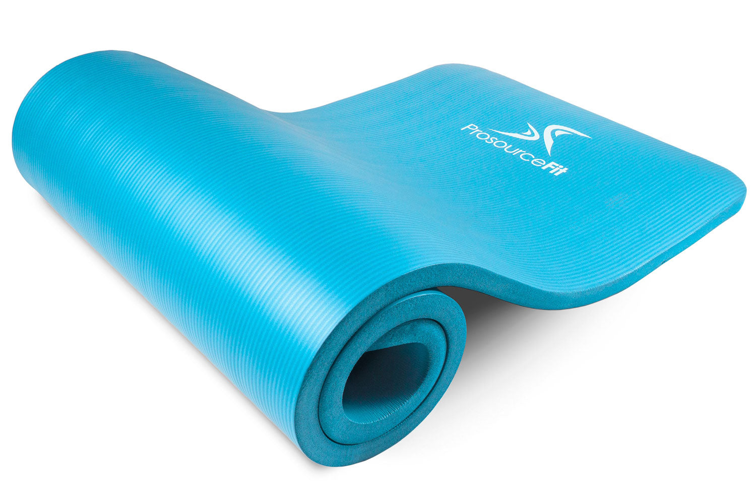 Aqua Extra Thick Yoga and Pilates Mat 1 inch