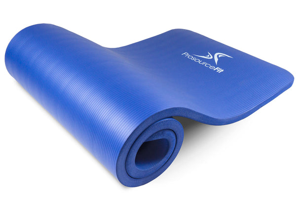 Extra Thick Yoga and Pilates Mat 1 inch Blue