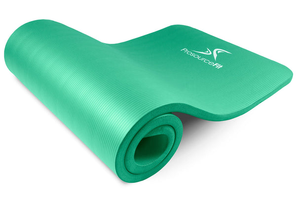 Extra Thick Yoga and Pilates Mat 1 inch Green