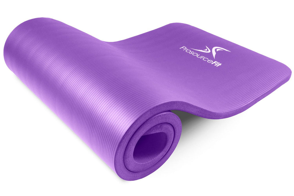 Extra Thick Yoga and Pilates Mat 1 inch Purple