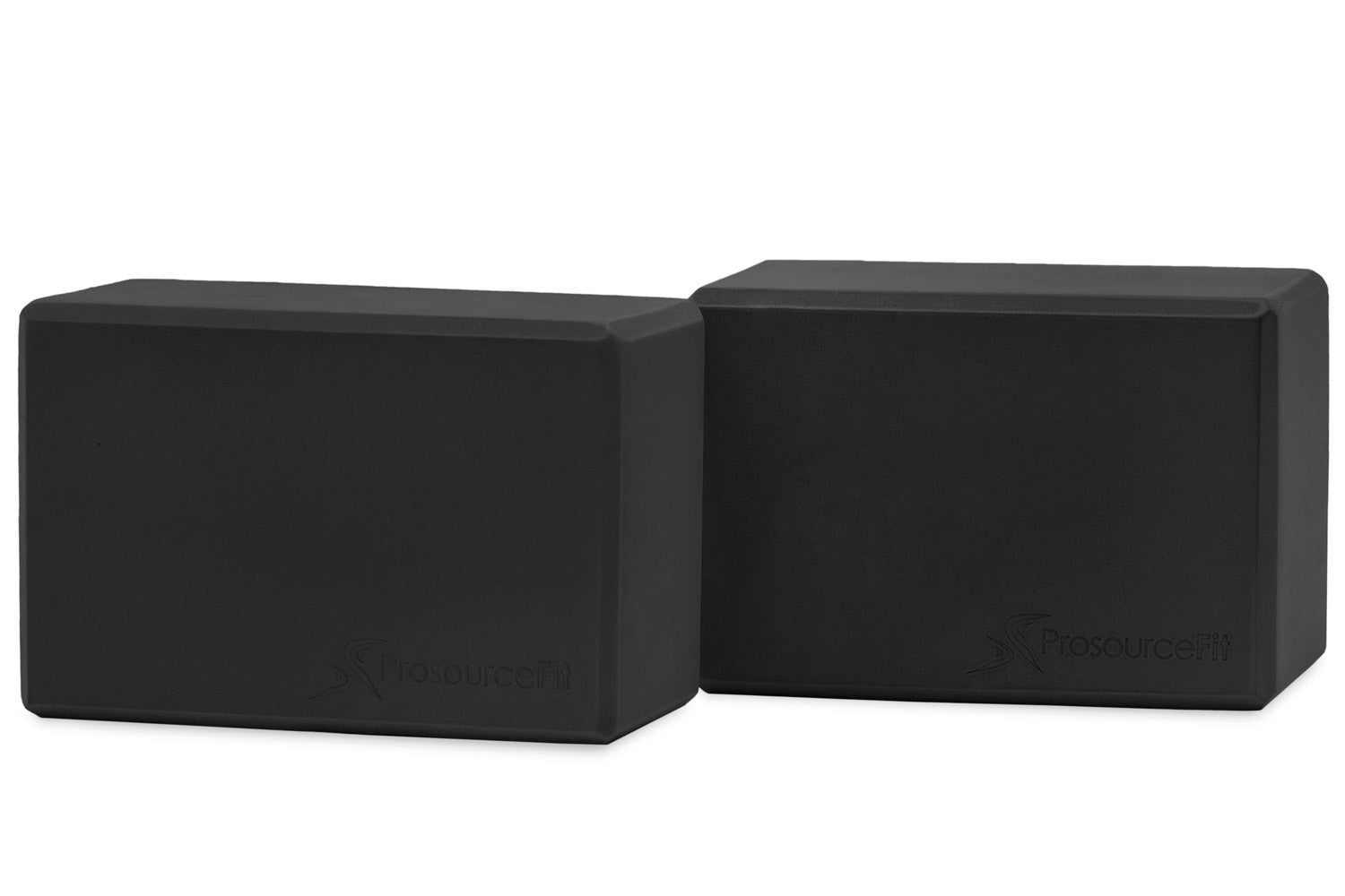 Black Set of 2 Foam Yoga Blocks