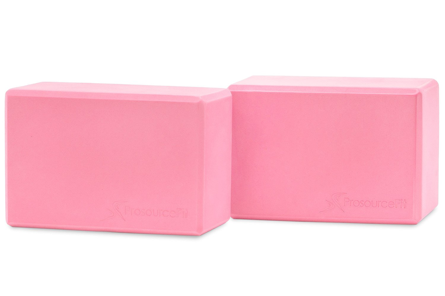 Pink Set of 2 Foam Yoga Blocks