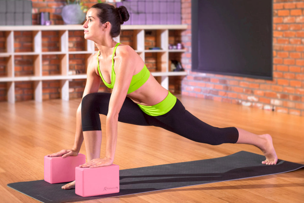 Set of 2 Foam Yoga Blocks Pink