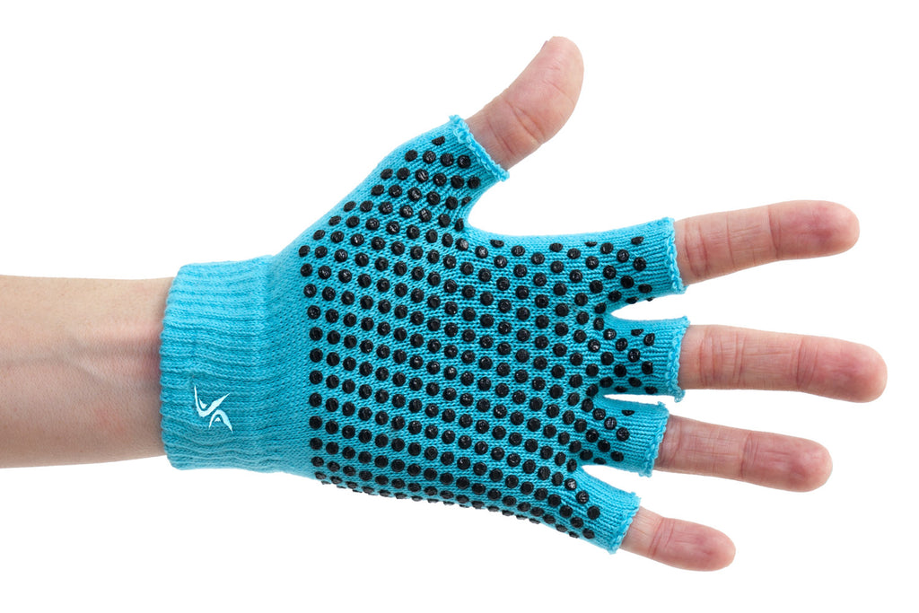 Grippy Yoga Gloves Aqua