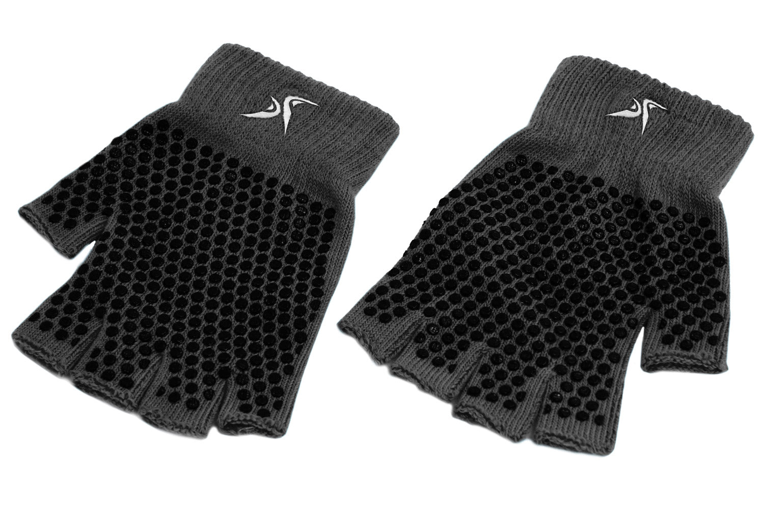Black Grippy Yoga Gloves