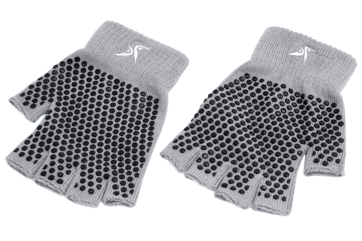 Grey Grippy Yoga Gloves